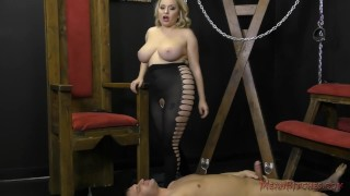 Mistress Aiden Starr Makes Her Slave Worship Her Beautiful Ass - Femdom  slave asslicking bdsm femdom dungeon meanbitches kink domme mistress asshole closeup big boobs aiden starr natural tits ass eating