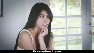 ExxxtraSmall - Tiny Little Asian Gets Drilled By A Huge Cock  ember snow big cock exxxtrasmall hairy tiny asian cumshot skinny teamskeet smalltits brunette petite bigcock facial small frame spinner