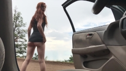 Roadside Pee Alone | My Full Public & Fetish Vids: freckledred.manyvids.com