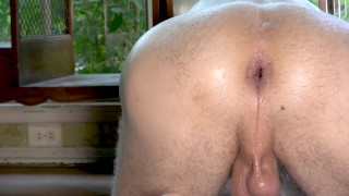 Plug in of window massive tunnel a front with a gape adult ass