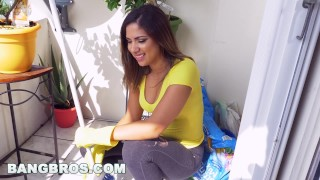 Preview 1 of BANGBROS - Latina maid Mariah cleans more than just the apartment