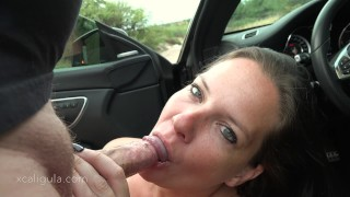 Restless Wife Distracting Her Husband Till He Pulls Over -  big tits blowjob car sex outdoor sex big tits amateur wife tease xcaligula dildo azzurra public pov fetish real public sex huge cumshot black hair blue eyes cum in mouth