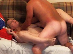 Wife choked while fucked