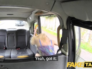 Preview 1 of Fake Taxi Thin petite blonde takes big dick