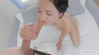 Mercury pov girl cadey tiny blowjob of