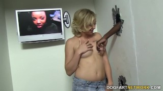 Tracey Sweet Lost Her Gloryhole Virginity With A BBC  big black cock hairy creampie blonde blowjob gloryhole pornstar fetish hardcore kink interracial dogfartnetwork glory hole