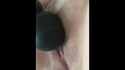 Mrs F plays with her post-pregnant pussy until she orgasms