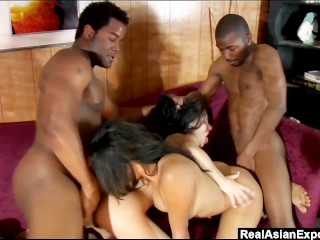 RealAsianExposed - Three black cocks for a pair of horny sluts.