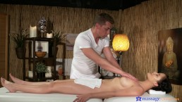 Euro babe Dolly Diore  gets her pussy fucked on the massage table