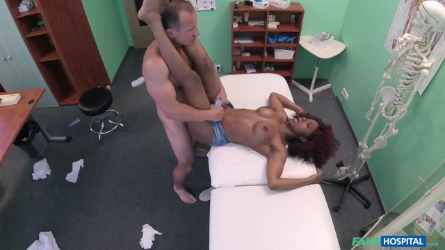 Sexy Minx loves grinding on doctor's hard cock and makes him cums twice
