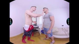 VirtualRealGay.com - Spiderman's secret German groupsex
