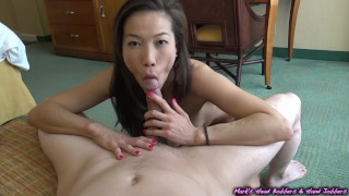 She drained my nutz in the back of her throat (Skill level - EXPERT)  oral creampie mark rockwell marks head bobbers point of view babe mhb cim asian blowjob big dick 60fps mhbhj ocp kalina ryu hand job cum in mouth