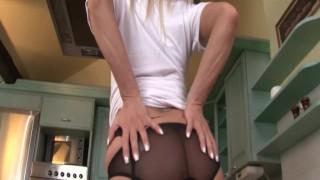 StockingVideos - Hot blonde in stockings Cock big