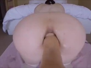 Tranny fucked by sex machine