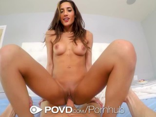 POVD Dick riding skills with brunette pornstar Chloe Amour