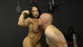 Muscle Queen Brandi Mae Makes Her Slave Worship Her Ass - Femdom  ass worship muscle woman face sitting slave bdsm meanbitches kink domme butt mistress muscle foot worship fitness model asshole licking ass licking ass kissing brandi mae