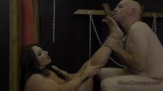 Muscle Queen Brandi Mae Makes Her Slave Worship Her Ass - Femdom  ass worship face sitting slave bdsm muscle woman meanbitches kink domme butt mistress muscle foot worship fitness model asshole licking ass licking ass kissing brandi mae