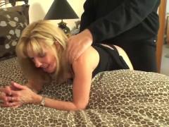 Mature Blonde Sucks & ... video
