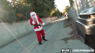Wankz wendie fucks santa homeless christmas slut