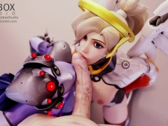 Widowmaker x Mercy Blowjob & POV [fireboxstudios]