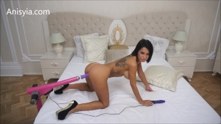 Anisyia Livejasmin Stiletto fucking machines extra small pussy streched