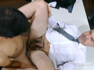 Daddy and Asian Twink Fck Bareback