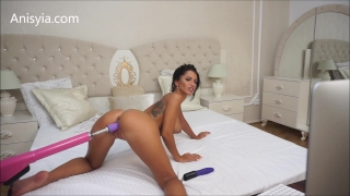 Anisyia Livejasmin hardcore machine fuck pussy stretching penetration Busty belly