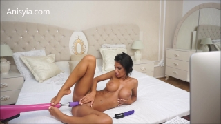 Anisyia Livejasmin hardcore machine fuck pussy stretching penetration Girlfriend 3some