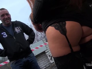Horny pornstar Mea Melone invite stranger to van and let him fuck her ass