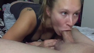 iPhone 1080p 60 FPS Amateur wife bedroom Blowjob