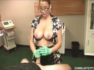 Busty doctor heals a huge prick