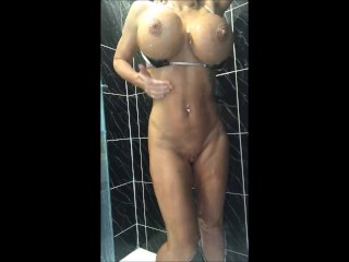 Join me and my 34JJ's for a sexy shower