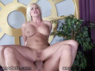 Blonde Teen ANDI ANDERSON Anal Ass Fucked for Facial & Swallow Reward! A++