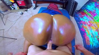 IMPREGNATE ME Black Cop Whore Takes Intentional Jizz From HUGE White Cock