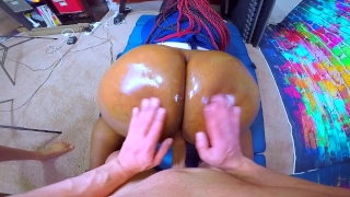 IMPREGNATE ME - Black Cop Whore Takes Intentional Jizz From HUGE White Cock Ffmm face