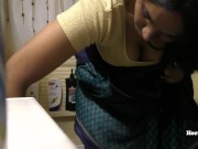 South Indian Maid Cleaning And Showering (Hidden Camera)