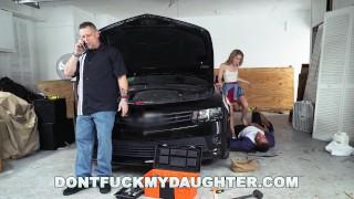 Ford teen yo dfmd friend daddy's mechanic fucks lilly big petite