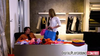 Preview 1 of Slippery Salesgirl - Kenzie Reeves can make any boy cheat
