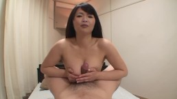 Japanese MILF with big natural tits fucked and facial