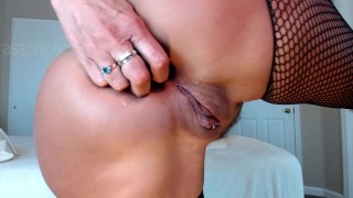 all things anal masturbates with dress