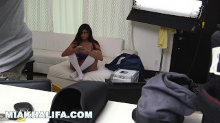 MIA KHALIFA - Getting extra dick from J-Mac behind the scenes! (mk13784) First busty
