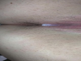 Creampie after hot sex