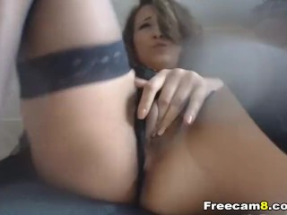 Hot Babe with Vibrator Fingering Pussy