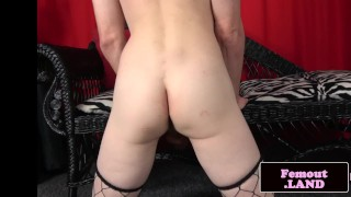 Stockinged amateur trans tugging her cock Amateur reality