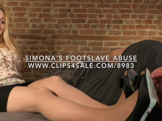 Simona's Footslave Abuse - www.c4s.com/8983/17898292