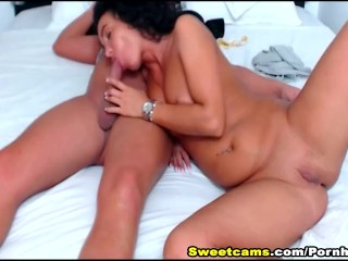 Horny Brunette Couple Oral Sex Pussy Fucking