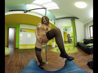 Nicole Vice dances at a stripper pole and fucks you in VR