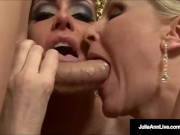 The Milf Julia Ann w Jessica James Suck A Cock Together!