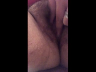 Horny Wife Masturbating While Husband's Watches Tv!!