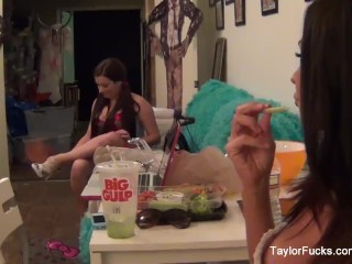 Behind the scenes with Taylor Vixen and Kirsten Price